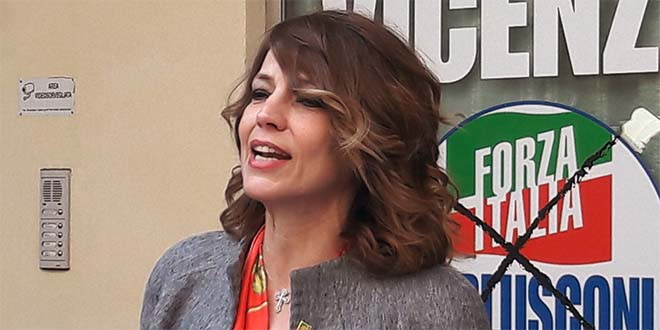 Elisabetta Gardini a Vicenza, poco più di un anno fa, quando era ancora in Forza Italia