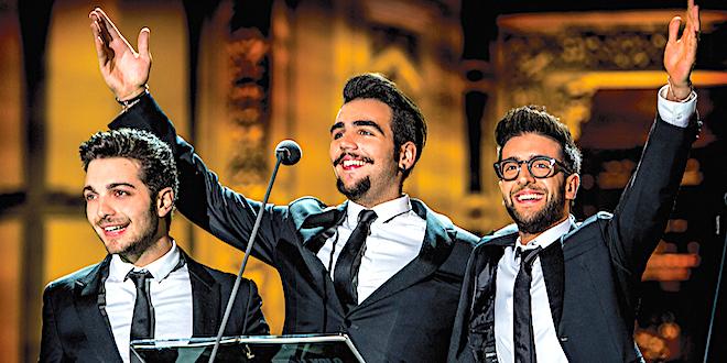 """La formazione de """"Il Volo"""", da sinistra: Ginoble, Boschetto e Barone"""