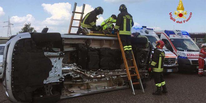 Incidente tra quattro veicoli sulla autostrada A4