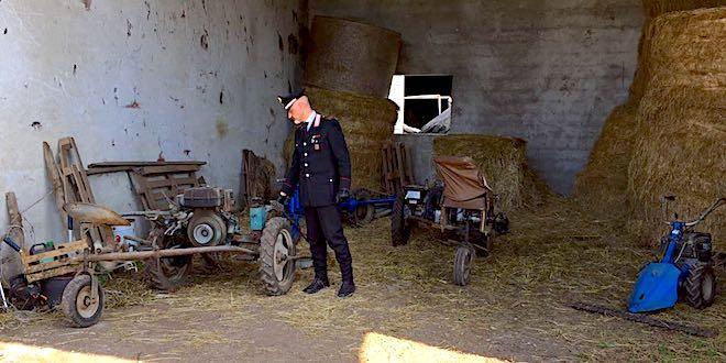 L'attrezzatura rubata ritrovata dai carabinieri di Nove
