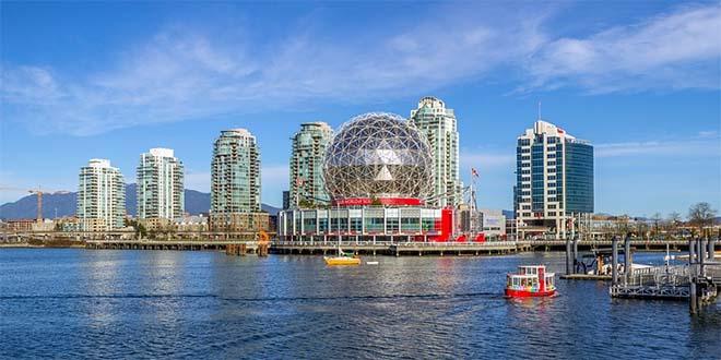 Vancouver, in Canada, sulla costa del Pacifico, è tra le prime tre città più vivibili del mondo