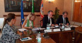 Da sinistra: Elena Donazzan, Ines Marini, Luca Zaia e Bruno Cherchi
