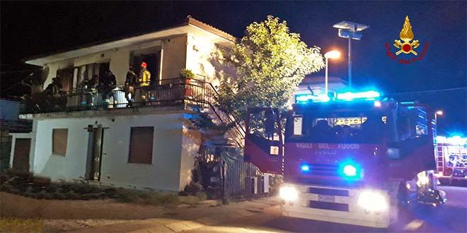 Grisignano, incendio in una casa bifamiliare