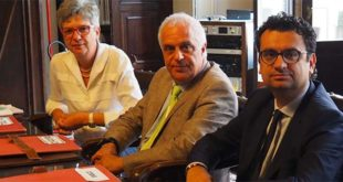 Da sinistra: Cristina Tolio, Claudio Cicero e Francesco Rucco
