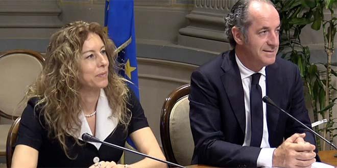 Il ministro per gli Affari regionali Erika Stefani ed il governatore del Veneto Luca Zaia