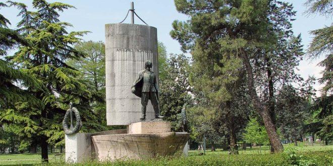 Il monumento ad Antonio Pigafetta, a Vicenza, a Campo Marzo