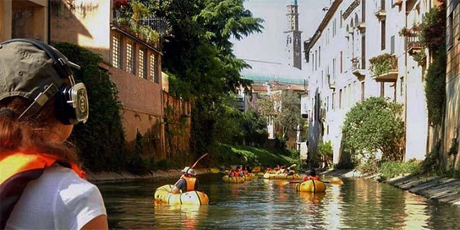 Vicenza, debutta il Silent Play fluviale sul Retrone
