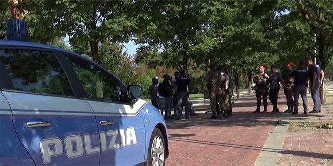 Controlli della polizia a Campo Marzo (immagine d'archivio)