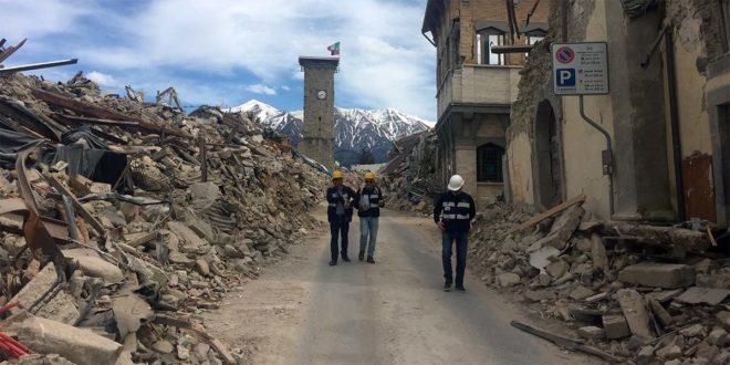 I geologi ad Amatrice dopo il sisma del 24 agosto 2016