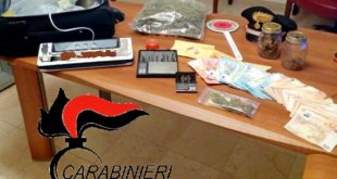 Il materiale sequestrato dai carabinieri di Marostica e Valdagno