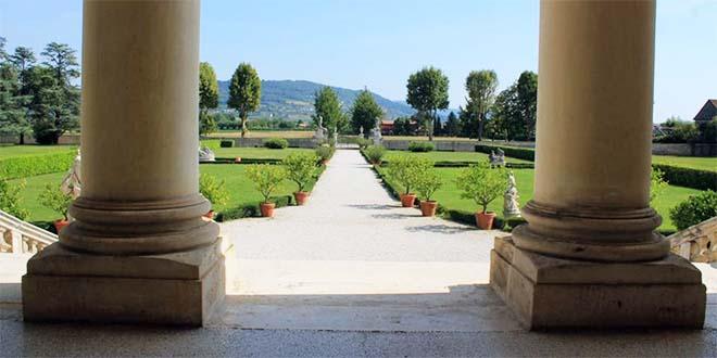 Il parco di Villa Cordellina Lombardi, a Montecchio Maggiore