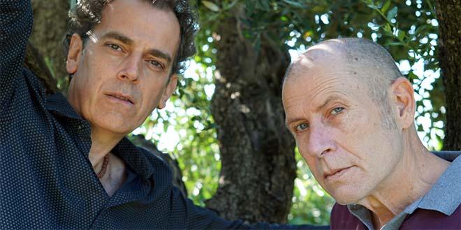 Vitaliano Trevisan, a destra, con Daniele Roccato
