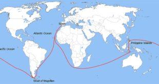La circumnavigazione terrestre di Ferdinando Magellano - Immagine di Messer Woland e Petr Dlouhý (CC BY-SA 3.0)