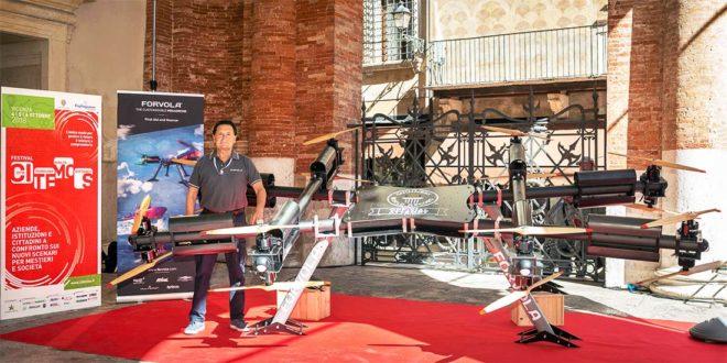 A Vicenza, il megadrone italiano di Forvola, personalizzabile, in grado di trasportare fino a 150 kg