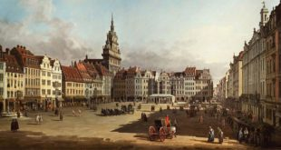 Bernardo Bellotto Veduta del vecchio mercato di Dresda (1750 –1752) Olio su tela Mosca, Museo Pushkin