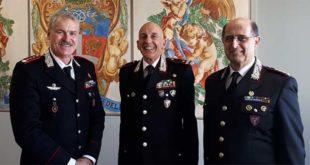 Da sinistra: il colonnello Santini, il generale Furlan e il colonnello Colombo
