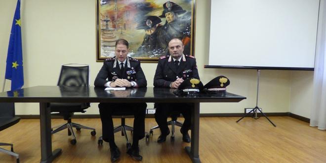 Il capitano Rossetti, a sinistra, e il luogotenente Fabio Piantoni