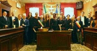 La società del Famila Basket Schio è stata ricevuta ieri in municipio