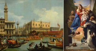 """Canaletto, """"Il ritorno del Bucintoro"""" e Giambattista Tiepolo, """"Madonna con i santi"""""""
