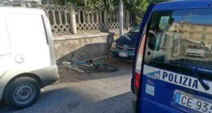 La bicicletta recuperata dagli agenti della polizia locale di Thiene