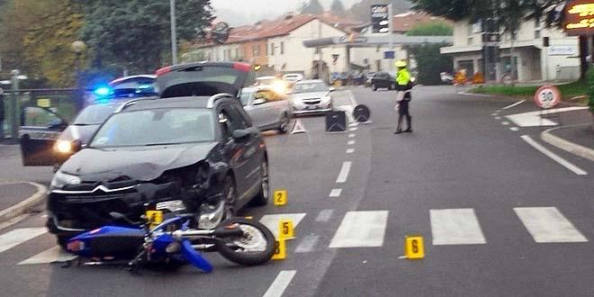 Il luogo del grave incidente stradale avvenuto il 10 novembre