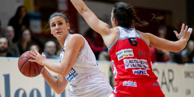 Primi punti in serie A2, ieri sera, per Irene Gamba contro Bolzano