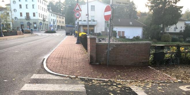 Ultimati i lavori del marciapiedi e della pista ciclabile sul Leogra
