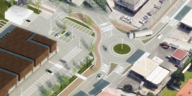 Pronta per fine febbraio la nuova rotatoria di viale della Pace, a Vicenza