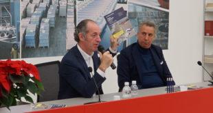 Il presidente Zaia assieme al patron di Grafica Veneta, Fabio Franceschi