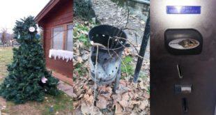 Alcuni degli atti vandalici compiuti negli ultimi mesi a Zermeghedo
