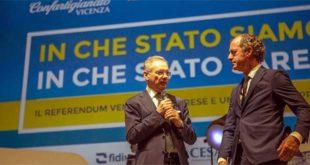 Confartigianato Veneto, Bonomo confermato - Agostino Bonomo e Luca Zaia