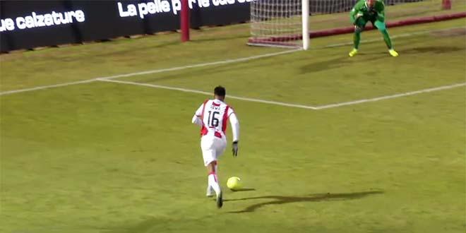 Arma lanciato a rete... (Screenshot da Eleven Sport Tv)