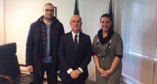 Da sinistra: Silvio Giovine, il questore Giuseppe Petronzi, Elena Donazzan