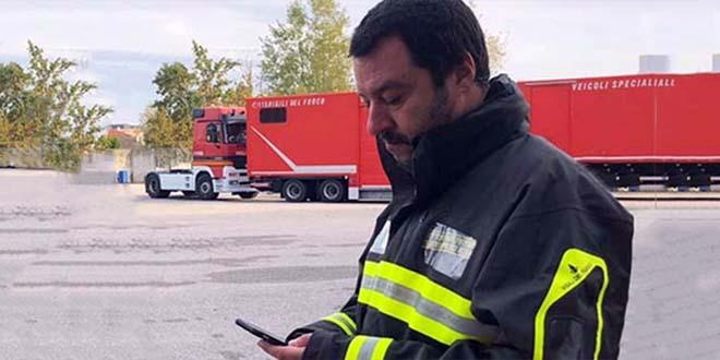 Matteo Salvini, nei mesi scorsi, durante un sopralluogo nelle zone del Veneto colpite dal maltempo