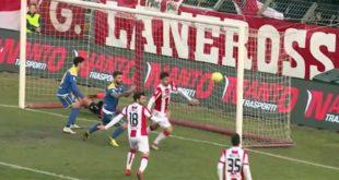 Menti ancora stregato per il Vicenza. La vittoria non arriva (Screenshot da Eleven Sports Tv)