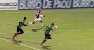 La fuga di Giacomelli che ha portato al pareggio di Maistrello (Screenshot da Eleven Sports)