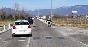 Dueville, ciclista investito. 78 enne muore sul colpo
