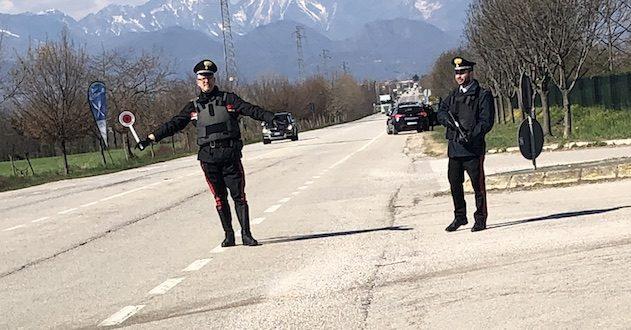 Serata di controlli straordinari del territorio per i carabinieri di Thiene. Immagine di repertorio