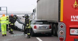 Incidente in autostrada A4. Quattro feriti
