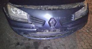 L'auto danneggiata dopo il tamponamento