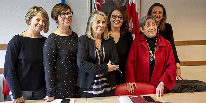 Da sinistra: Carola Paggin, Roberta Zolin, Grazia Chisin, Chiara Bonato, Marina Bergamin, Sarah Peruffo