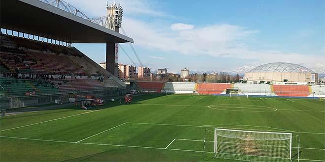 Lo stadio Brianteo di Monza. Domani sera non ci saranno tifosi vicentini...