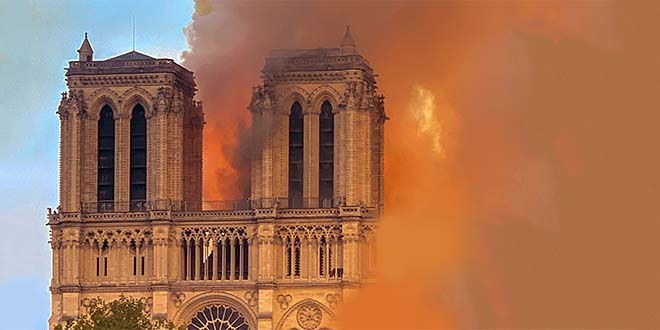 L'incendio della cattedrale parigina di Notre Dame - Foto: Milliped (CC BY-SA 4.0)