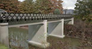 Rendering del futuro aspetto del ponte sul Guà, lungo la strada provinciale Montorsina