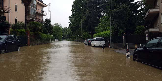 La situazione oggi in Viale Fusinieri, a Vicenza...