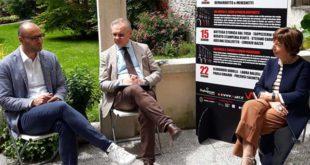 Da sinistra: l'assessore Silvio Giovine, il presidente di Confartigianato Agostino Bonomo e la curatrice del progetto Luisella Frezzato