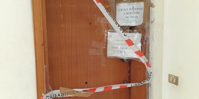 I sigilli all'appartamento di Torri di Quartesolo dopo l'incendio
