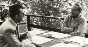 Antonio Barolini con Eugenio Scalfari, nella primavera del 1965