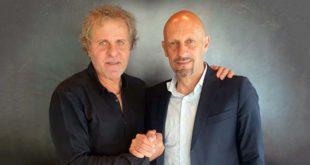 Il patron del LR Vicenza Renzo Rosso e il nuovo tecnico Mimmo Di Carlo