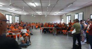 I lavoratori del Lotto 1 della Pedemontana, oggi, in assemblea